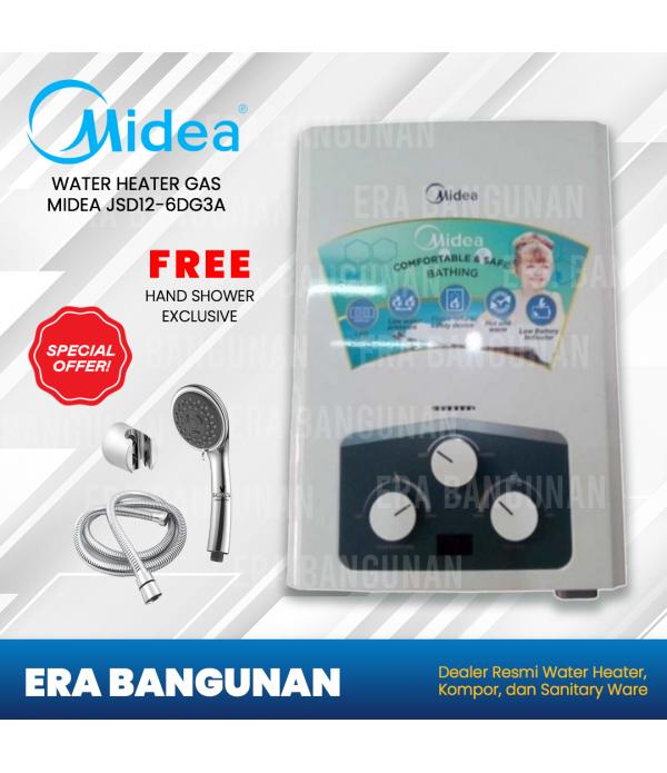 Midea Water Heater Gas JSD12 - 6DG3A Fre...