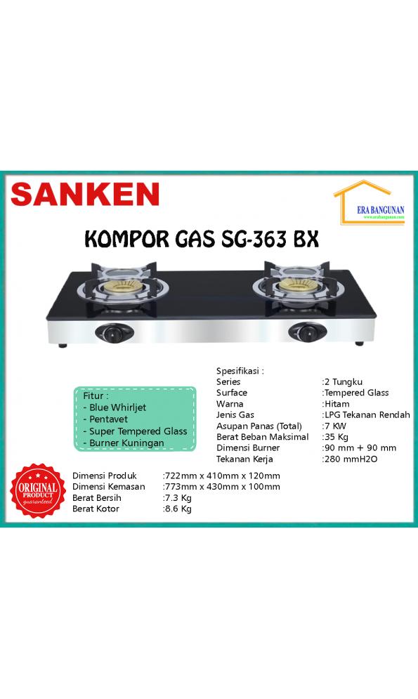 Sanken Kompor Gas SG-363 BX | SG-363 BX